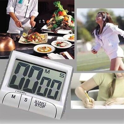 Large LCD Digital Kitchen Timer Count-Down Up Clock Loud Alarm YT