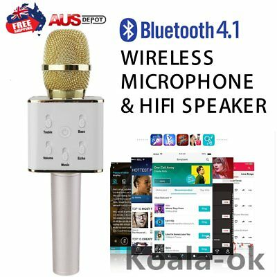Q7 Handheld Mobile Phone KTV Home Mini Karaoke Wireless Bluetooth Microphone KMN
