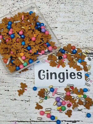 Gingerbread House Men Christmas Deluxe Sprinkles Cake Decorations Jumbo Size Mix