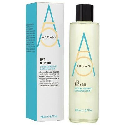 SALE! Argan + Dry Body Oil 200ml for Dry Aging Uneven Skin Stretch Marks