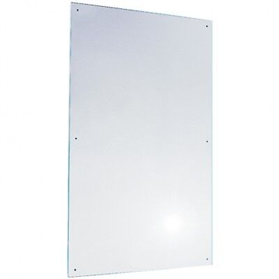 450mm W x 750mm H - Bradley 748 Polished Stainless Steel Mirror in No Frame