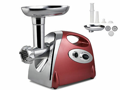 New Orbit Meat Grinder Electric Mincer Sausage Maker Red