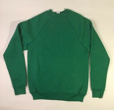VINTAGE DISCUS GUSSET blank SWEATSHIRT made in USA GREEN super soft 50/50