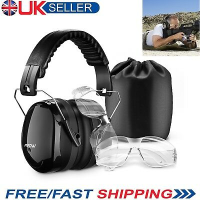 Mpow Foam Ear Muff Hearing Protection w/ Safety Glasses for Shooting Hunting
