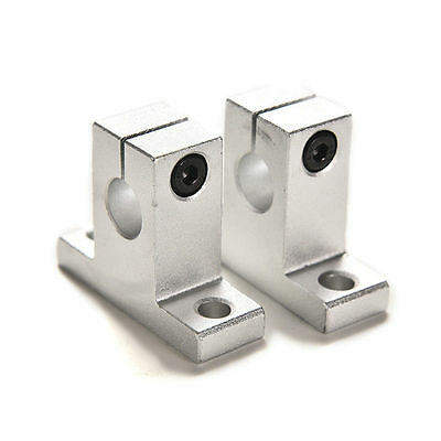 2PCS SK10 10mm Bearing CNC Aluminum Linear Rail Shaft Guide Support 4y