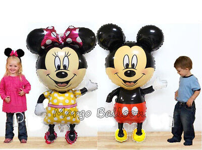 Jumbo Size 110*68cm Mickey Minnie Mouse Balloon Kid Birthday Party Celebration