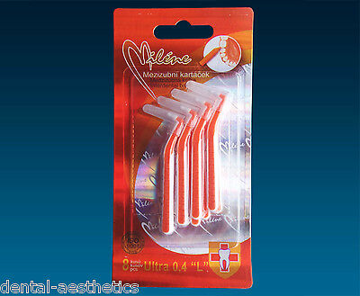 Interdental Brushes (Pack of 8) Angle Brush Size 0.4mm - Clean Between Teeth