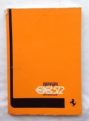 Ferrari BB512 Berlinetta Boxer Owners Manual 1976