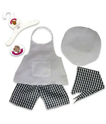 Teddy Bears Clothes fits Build a Bear Teddies Chef Cooks Uniform Baking Outfit