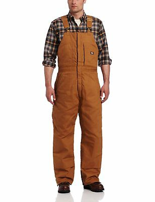 Dickies Mens Insulated Bib Overall, Brown Duck,Large-Regular