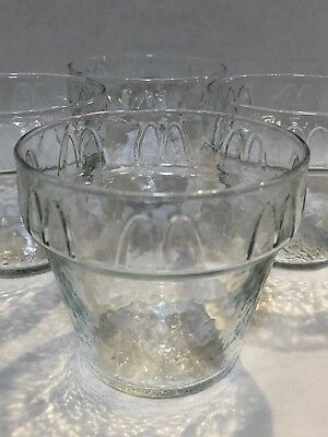 Lot of 4 Vintage McDonalds Glass Ice Cream Sundae Cups Dishes Bowls
