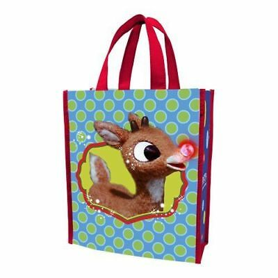 Rudolph The Red Nose Reindeer Holly Jolly Christmas Tote Bag 12'' x 10'' Carry