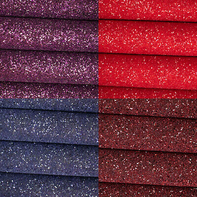Frosted Chunky Glitter Fabric A4 Sheets - Premium Quality For Crafts & Bows