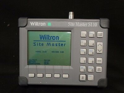 Wiltron/Anritsu Site Master S110 Cable Antenna Analyzer NEW BATTERY (MAKE OFFER)