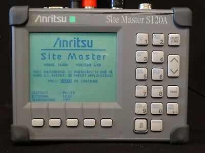 Anritsu Sitemaster S120A Cable Antenna Analyzer 600-1200 MHz 2 port NEW BATTERY