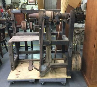 Antique Broom Winding  Making Machine  -  East Texas - Nice!!!