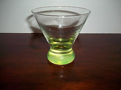 Vintage - Vaseline/uranium - Cocktail High Ball Glass