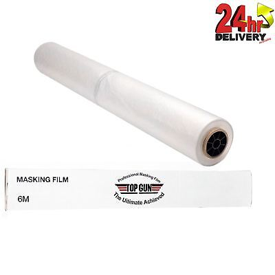 Top Gun Professional Polythene Static Masking Film/Sheet 6m x 120m White