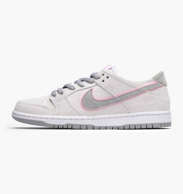Nike Sb Dunk Low (White/perfect Pink-Flt Silver) (895969-