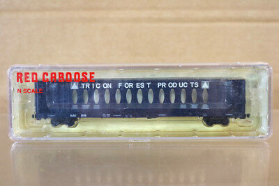 RED CABOOSE RN-16621-6 N SCALE TRICON FOREST CENTERBEAM CAR WAGON nn