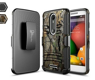 For Motorola Moto DROID Turbo 2 | Rugged Shockproof Belt Clip Holster Case Cover