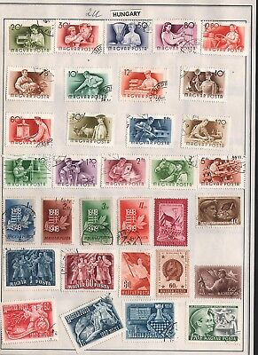 Hungary Lot Of Old Stamps #2U, 2 Pages