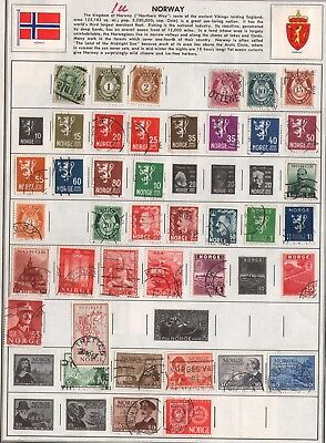 Norway Lot Of Old Stamps #1U