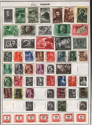 Hungary Lot Of Old Stamps #6U, 2 Pages