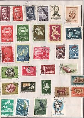 Hungary Lot Of Old Stamps #5U, 2 Pages