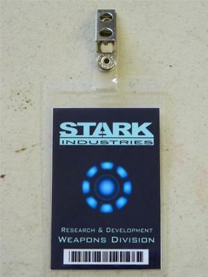 HALLOWEEN COSTUME MOVIE PROP - ID/Security Badges (STARK INDUSTRIES, IRON MAN)