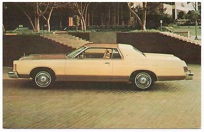 1977 MERCURY MARQUIS Brougham 2-Door Hardtop Dealer Promo Postcard Unused VG+