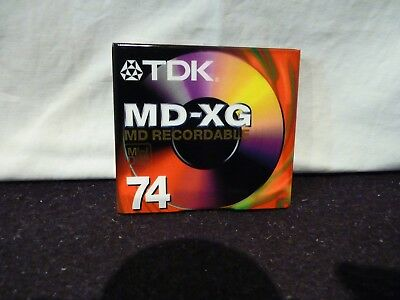4 X TDK MD-XG (74) MD Recordable Mini Disc NEW