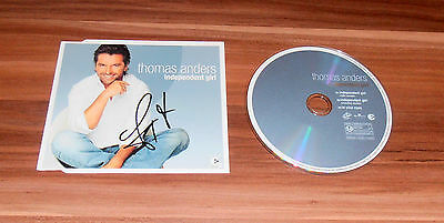 Thomas Anders *Modern Talking*, original signed CD-Cover *Independent Girl* + CD