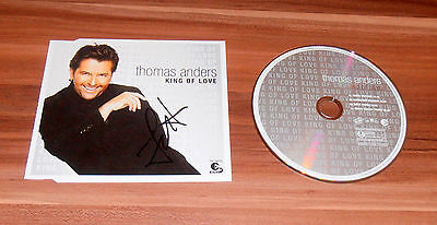 Thomas Anders *Modern Talking*, original signed CD-Cover *King of Love* + CD