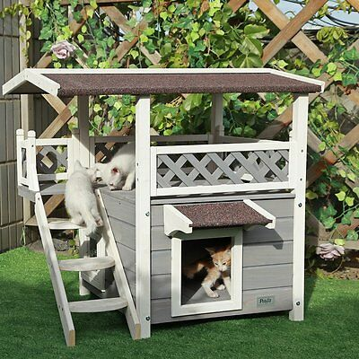 outdoor cat house cat outdoor house shelter pet condo bed kitty weatherproof