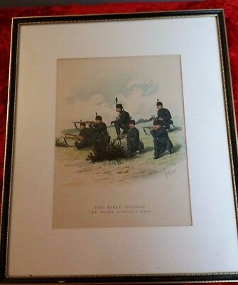 Vintage Reprint of Rifle Brigade (The Prince Consorts Own) by Richard Simkin Art