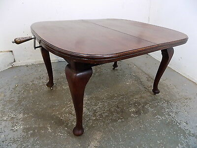 mahogany,extending,wind out,dining table,cabriole legs,table,antique,victorian