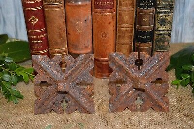 One Rare Antique Large French Forged Iron Nail Decorative Backplate Door Trunk