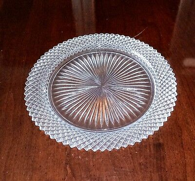 Anchor Hocking Miss America Clear Glass Dinner Plate