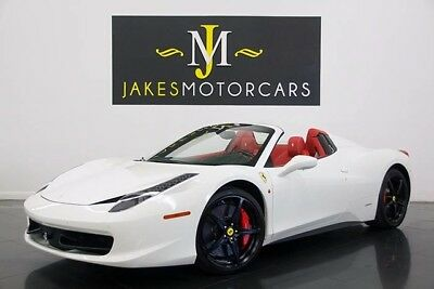 2015 Ferrari 458 Spider ($343K MSRP) 2015 FERRARI 458 SPIDER, $343K MSRP! WHITE ON RED, 8300 MILES, $76K IN OPTIONS!