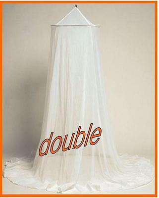 Mosquito Net - Double - Hoop Style - White - Mozzie Free