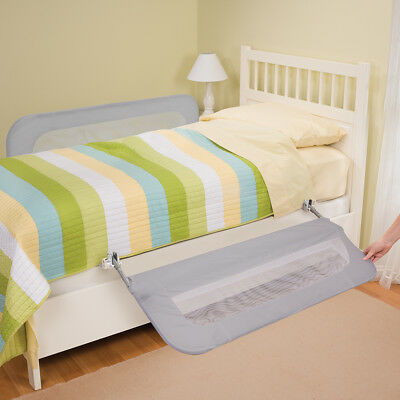 Double Safety Bedrail for Twin to Queen Sized Mattresses Grey Unique Design