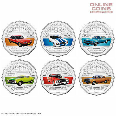 2017 RAM Ford Classic Collection 11x 50c Coloured Uncirculated Carded Coin Set