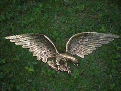 "Brass Eagle Wall Hanging Plaque Federal style 29"" Very Large Very Heavy vintage"