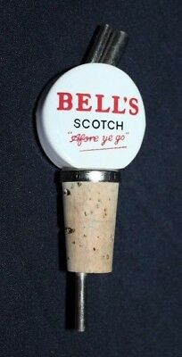 Retro Ceramic BELL'S Scotch Bottle Pourer & Stopper Great For The Home Bar