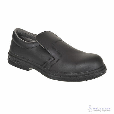 Shoes Hospitality Kitchen Slip-On Safety Steeltoe Size 8 Portwest Cook Chef