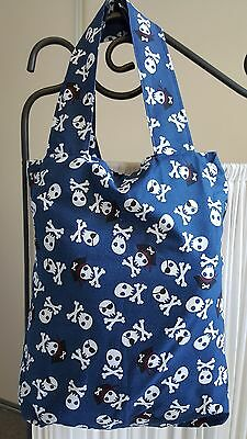 Tote Bag - Children's Library or Toy Bag Pirate Print