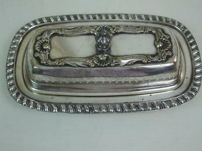 1883 FB Rogers Co Silver on Copper # 1905 Butter Dish w Glass Insert Silverplate