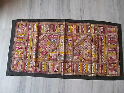 Vintage Indian Tribal Handmade Wall Hanging Ethnic Patch Embroidery Tapestry