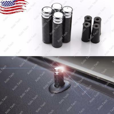 4PCS Carbon Fiber Door Lock Pin Knobs For BMW 1 3 5 7 Series X1 X3 X4 X5 X6